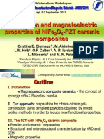 Preparation and Magnetoelectric Properties of PZT-NF Composites - Oral Presentation ANMM 2011_pt Conf