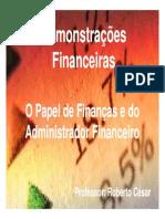1 o Papel Das Finacas e Do Administrador