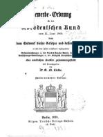 Gewerbe-Ordnung vom 21. Juni 1869
