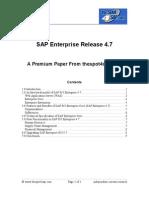 SAP Enterprise 4.7 20091009