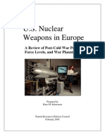 U.S. Nuclear Weapons in Europe - A Review of Post-Cold War Policy, Force Levels, and War Planning