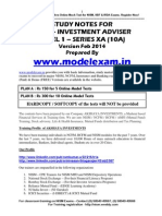NISM Investment Adviser Level 1 - Series X-A Study Material Notes