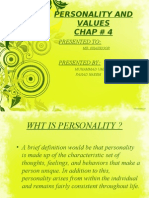 Personality and Values Chap 4