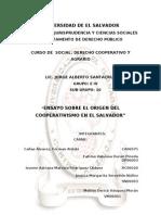 Ensayo Historia de Las Cooperativas en El Salvador