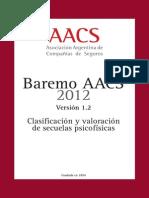 Baremo AACS Asociacion Argentina de Compañias de Seguro 2012