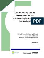 Uso de información para el planeamiento institucional (1)