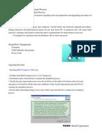BenQ W1070 Firmware Upgrade Procedure