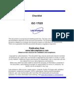 e 178 Iso17025 Checklist