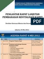 Pengantar Rapat Revitalisasi KAPET