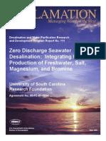 Zero-Discharge Seawater Desalination