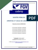 Ementas Cademp - GestÆo P£blica - 3ø ciclo de 2009 - 29  de abril de 2009