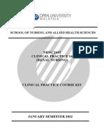 16114330nbnc2607 Renal Nursing-course Kit-cp14--Jan Sem 2012