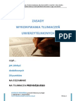 R.Świgońska - Zasady przeprowadzania tłumaczeń uwierzytelnionych