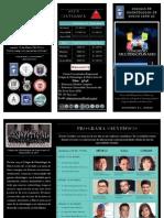 Triptico XXII Congreso Multidisciplinario CONL 2014