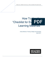 OALCF How to Evaluate Learning Materials Mar 11