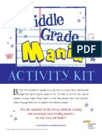 Spring 2014 Middle Grade Mania Activity Kit