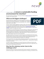 2015 Project - How can we ensure a sustainable funding environment for charities?