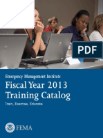 Emergency Management Institute FY13 Catalog