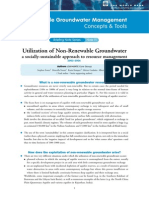 GWM Briefing 11 Utilization of Non-Renewable Groundwater