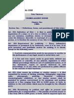 Libel Revised Penal Code 322
