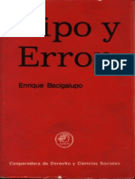 Bacigalupo, Enrique - Tipo y Error