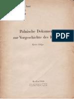 Auswärtiges Amt - Weissbuch Nr. 3 - Polnische Dokumente zur Vorgeschichte des Krieg (1940)