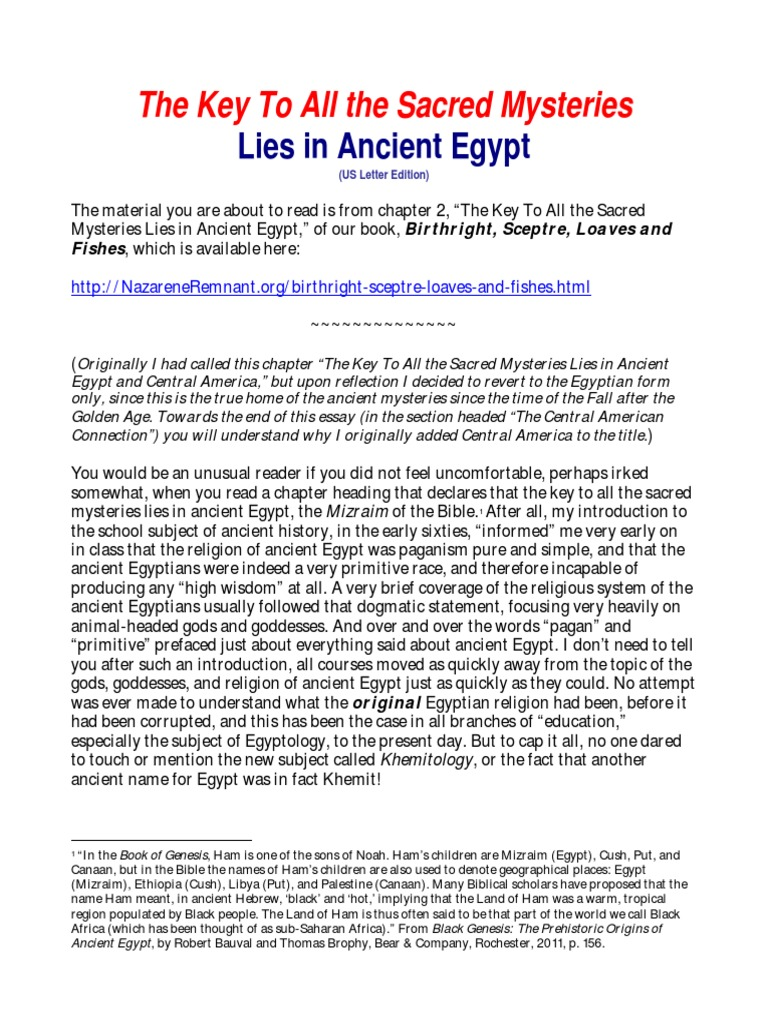 the key to all sacred mysteries lies in ancient osiris isis