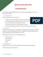 Club Constitution