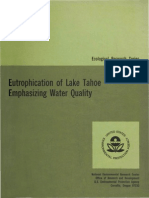 Eutrophication of Lake Tahoe Emphasizing Water Quality