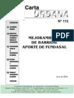 Carta Urbana 115