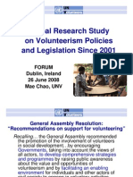 EURO 2008 UNV Research Policy Regulatory Framework