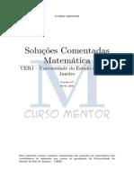 Provas de matemática da UERJ comentadas