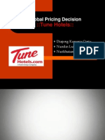 Tune Hotel Fix - Global Pricing Decision