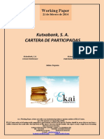 Kutxabank SA. CARTERA DE PARTICIPADAS (Es) Kutxabank, S.A. STOCK PORTFOLIO (Es) Kutxabank, S.A. PARTAIDETZEN KARTERA (Es)