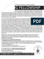 Wits Institute for Social and Economic Research (WISER)  Writing Fellowship Application Details