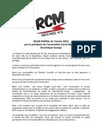 Bilan Moral 2013 - Radio Associative Rcm