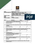 MB0053 International Business Management _MBA 4_ Winter 2013