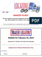 Wanted to Buy - February 19, 2014