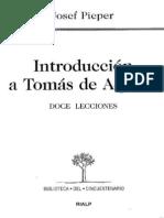 introducción a tomás de  aquino - Pieper