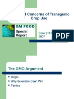 Risks and Concerns of Transgenic Crop Use