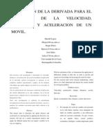 Hallazgo de La Velocidad Tiempo y Aceleracion de Un Movil Mediante La Derivada 2.. (6)... El Propio