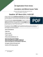 AFR-PHD 2014 1 Project Description Form