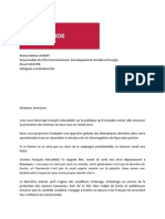 2012 Reponses Francois Hollande Condition Animale Presidentielle