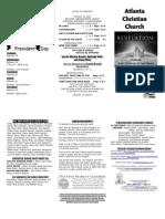February 16, 2014 Trifold Bulletin