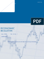 Economic Bulletin Appendix to July 2009