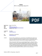MFE C++ Programming, Spring 2014--Syllabus--(MFE Program, Berkeley-Haas)