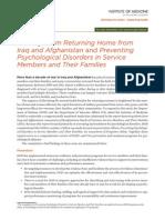 Military Mental Health Findings