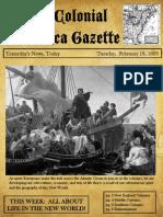 social studies colonial times newspaper 2013-14