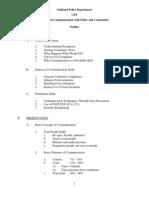 CPT Communication Course Outline 2013