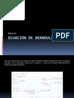 ejercicios Ecuación de bernoulli